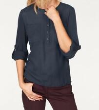 34 bis 48 blau Ton Zierband NEU 112 Cheer Shirt Damen Bluse Gr