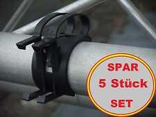 5x THE SNAP schwarz Kabel Bügel mit Halter für Steckdosen, Befestigungs Klammer
