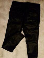 H&M Black Faux Leather Skinny Pants Size 6 Super Stretch
