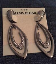 Alexis Bittar Miss Havisham Crystal Encrusted Asymmetrical Orbiting clips on
