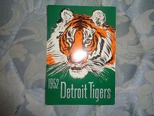 1952 DETROIT TIGERS MEDIA GUIDE Press Book G. KELL Program Yearbook Baseball AD