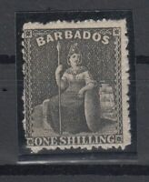 C2678/ BRITISH BARBADOS – BRITANNIA - SG # 51 MINT NO GUM – CV 310 $