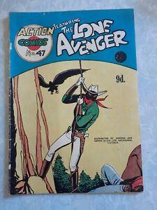 Action comics #47 The Lone Avenger Australian vintage comic Gordon & Gotch
