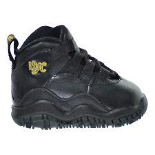 Jordan 10 Retro BT Toddler's Shoes Black-Dark Grey-Metallic Gold 310808-012