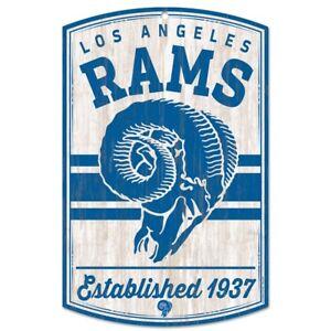 "LOS ANGELES RAMS CLASSIC RETRO LOGO EST. 1937 WOOD SIGN 11""X17'' NEW WINCRAFT"