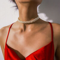 EE_ Evening Party Women Faux Pearl Choker Necklace Jewelry Anniversary Gift Eage