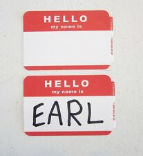 """25 RED """"HELLO MY NAME IS""""  NAME TAGS LABELS BADGES STICKERS PEEL STICK ADHESIVE"""