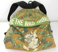 Vtg Where the Wild Things Are Backpack Bookbag 2000 Sendak Canvas Bag Kids Books