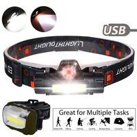 USB Rechargeable LED Headlamp Headlight Waterproof Head Lamp Torch Flashlight yu