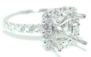 1.25 CT Square HALO DIAMOND RING Setting 14KW