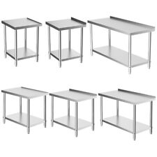 More details for commercial stainless steel kitchen food prep work table bench 2-6ft wide worktop