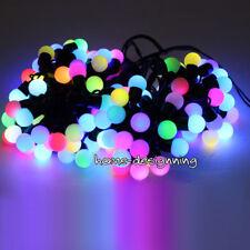 Multi Colour 50 LED Indoor Outdoor Festoon Party Fairy Lights Berry Ball UK Plug