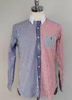 NWT Polo Ralph Lauren  MENS CLASSIC FIT  DRESS SHIRT Blue Multi ,M/L #14