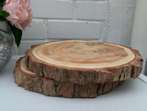 FINEST CREAMY WEDDING WOOD LOG Slice  Large Natural 28-30cm  Centrepiece 🌸 CHIC