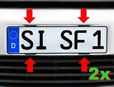 4x Kennzeichenhalter Rahmenlos Nummernschildhalter Simple Fix Set für 2 Kenn....