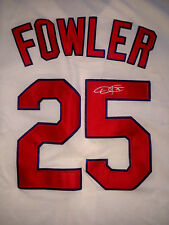 DEXTER FOWLER ST LOUIS CARDINALS AUTOGRAPHED SIGNED ALTERNATE CREAM JERSEY W/COA