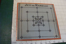 vintage French game: JEU DE MARELLE game board, early 1900's nice condition