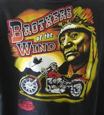 Brothers of the Wind Men's T-Shirt XL Wheel 2 Thunder Motorcycle Indian Man cave