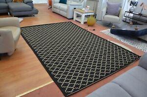Safavieh Courtyard Rug Black Moroccan Style Indoor / Outdoor 200x300cm Large