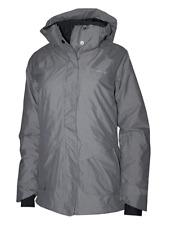 NWT Columbia Women's XS Starr Pass Ski Omni Heat Tech Hooded Jacket Boulder Grey