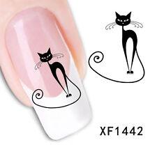 Trasferibili water decal  decorazione unghie nail art 5 fogli disegni gatto