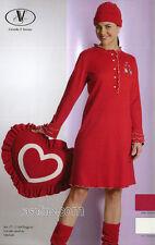 Camicia da Notte Donna Ragazza tg. 42 Cotone Interlock Strass Rosso C.T.Versace