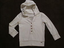 Womens Holister Hollister White V-Neck Hoodie Cropped Shorter Sweatshirt size S