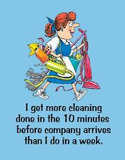 METAL REFRIGERATOR MAGNET Housework 10 Minutes All Week Company Family Humor