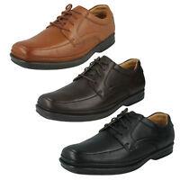 Clarks Hombre Cuero Active Air Ancho Informal Zapatos Elegantes con Cordones