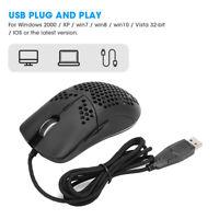 HXSJ J900 Hole Mouse 6-Key Wired Gaming Mice Macro Programming RGB Lighting NEW