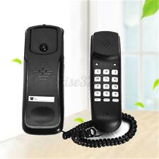 BALCK WALL MOUNT HOME CORDED PHONE TELEPHONE HOME OFFICE DESKTOP LANDLINE US