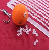 200 SMALL CLEAR DUMBELL BOILIE BAIT STOPS CARP COARSE FISHING ....
