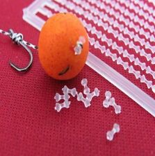 200 CLEAR  DUMBELL BOILIE BAIT STOPS CARP COARSE FISHING TACKLE       nkl