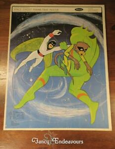 1967 Whitman Space Ghost Frame Tray Puzzle No. 4559 Hanna-Barbera Cartoon