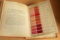 Catalogue Espagnol 626 ECHANTILLONS Colorants fils de COTON Nuancier Ca 1925