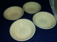 4-Corelle Blue Lily / Symphony/First of Spring Cereal/Soup Bowls EUC