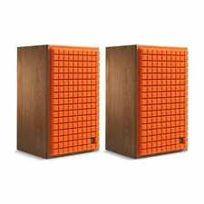 JBL L82 Bookshelf Speakers, Pair, Orange Grills