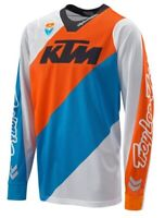 KTM SE Slasher Shirt White Orange Blue Off road Motocross Motorcycle Jersey New