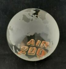 More details for tiffany & co glass globe paperweight gold  air 2000 rare world airline collectab