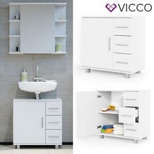 VICCO Mobile da bagno ILIAS Bagno Specchio Scaffale Credenza di base Armadio