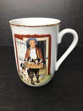 "Vintage Norman Rockwell Museum Mug ""Puppy Love"""
