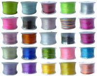 100M 1mm DIY Schmuck KUMIHIMO Satinkordel Flechtkordel Farbwahl Satinband  Neu