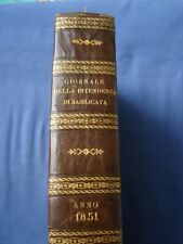 BORBONICA-GIORNALE ATTI  INTENDENZA BASILICATA-ANNO 1851-FERDINANDO II-POTENZA
