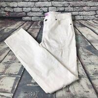"ROXY Super Skinny Jeans - White Distressed - Juniors Size 13 - 33"" Inseam"