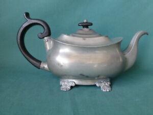 Antique Dixon & Son Pewter Tea Pot