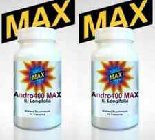 (2) Andro 400 Max - Andro400 Eurycoma Longifolia Ages 40+ Free Same Day Shipping