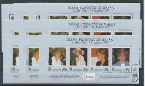 [P890] Gibraltar 1997 Princess Diana good sheets very fine MNH (10x)