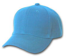 Blank / Plain Adjustable Baseball Cap / Hat - Sky / Baby Blue