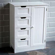 Home Discount Bathroom Cupboard 4 Drawer 1 Door Floor Standing Cabinet Unit S