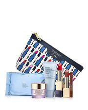 Estee Lauder Resilience Lift Creme,Pure Color Lipstick,Pencil &Cleanser Gift Set